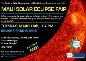 Maui Solar Eclipse Fair - March 8 * Kalama, Kihei